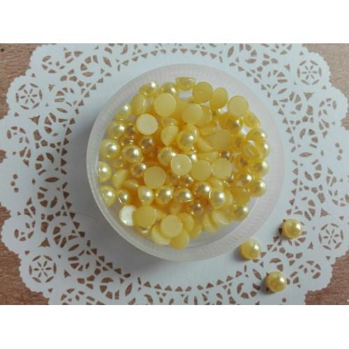 Полужемчуг Желтый 5 мм фото