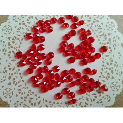 Кристаллы. Красный, 4,5 мм. 100 шт