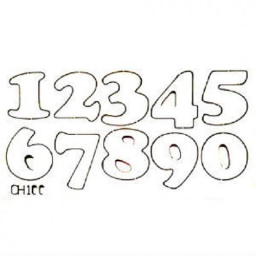 """Чипборд """"Цифры"""", 11,6*6 мм, With love"""