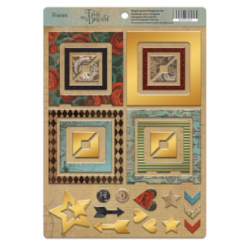 Рамки из чипборда с фольгированием (золото) для скрапбукинга 30шт от Scrapmir Time to Dream