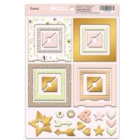 Рамки из чипборда с фольгированием (золото) для скрапбукинга 30шт от Scrapmir Baby Doll