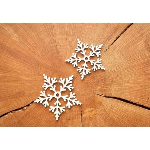 """Чипборд """"Снежинка 03"""", 5*5 см, Woodchic"""