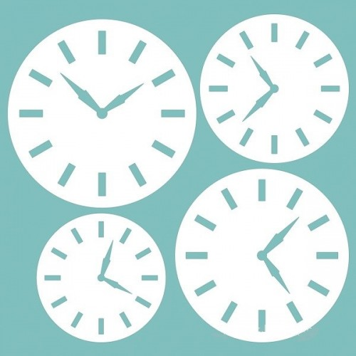"Чипборд ""Набор часов"" 66х69 мм. Вензелик"