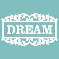 """Чипборд """"Рамка Dream"""" 41х72 мм. Вензелик"""