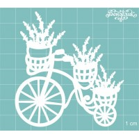 """Чипборд """"Велосипед с цветами"""" 70*75 мм. Вензелик"""