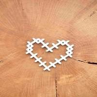 "Чипборд ""Сердце крестики"" 4,4*4 см, Woodchic"