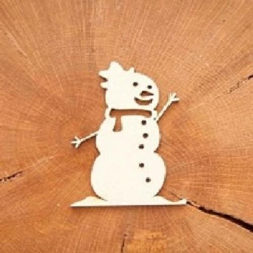 """Чипборд """"Снеговик"""", 7*5 см, Woodchic"""