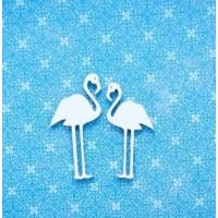 """Набор Чипборд """"Фламинго"""" 5*2,5 и 4,5*2 см , Woodchic"""