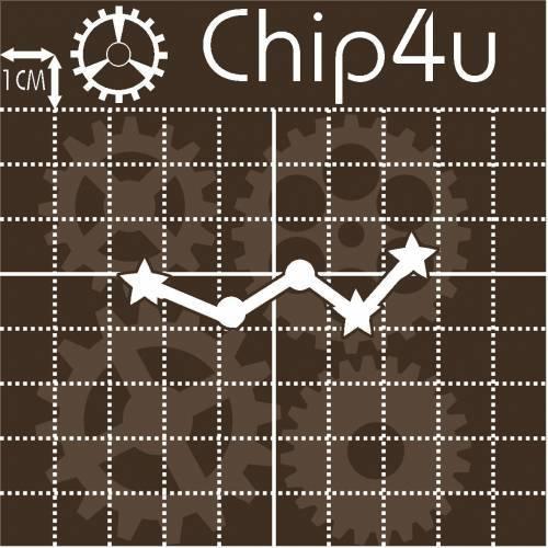 "Чипборд надпись ""Созвездие 8"" Chip4u, 5.9х2 см"