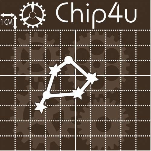 "Чипборд надпись ""Созвездие 5"" Chip4u, 4.4х3.9 см"