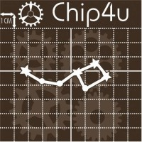 "Чипборд надпись ""Созвездие 1"" Chip4u, 6.6х2.4 см"