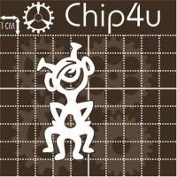 """Чипборд """"Пришелец 2"""" Chip4u, 3.3х6.7 см"""
