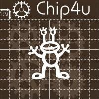 """Чипборд """"Пришелец 6"""" Chip4u, 4.4х5.4 см"""