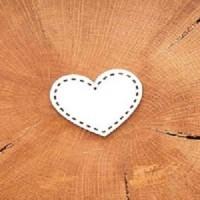 "Чипборд ""Сердце строчка"" 4,2*3,8 см, Woodchic"