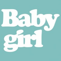 """Чипборд """"BABY GIRL"""" 19х88 мм. Вензелик"""