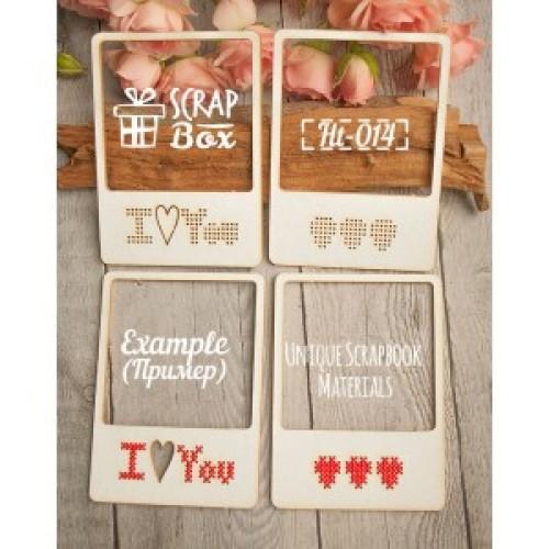 """Чипборд для вышивки """"слайды Love"""", 60 x 82 мм. Scrapbox"""