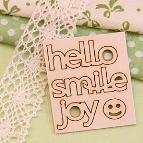 "Чипборд Набор надписей ""hello, smille, joy"" Artistic Line"