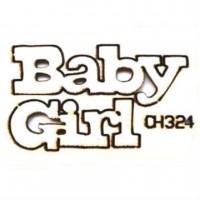 """Чипборд """"Baby Girl"""", 49*30 мм, With love"""