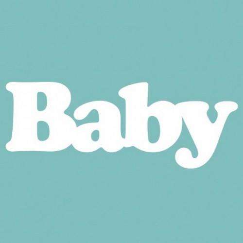 """Чипборд """"Baby"""" 18*49 мм. Вензелик"""