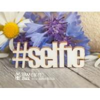 "Чипборд хэштег ""selfie"". 40 x 15 мм Scrapbox"