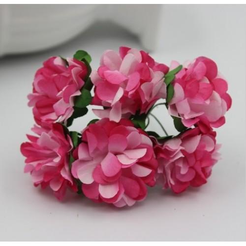 купить цветы бумажные Красно-белые