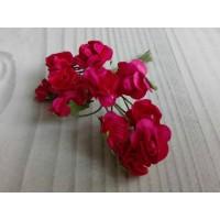 Розы бумажные Малиновые, 12 шт
