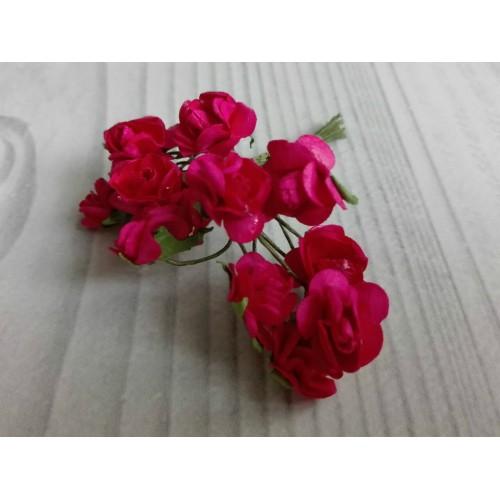 купить розы бумажные малиновые
