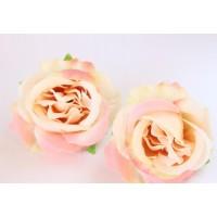 Роза (головка) Персиковая, 6.5  см
