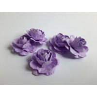 Цветы ручной работы Розы сиреневые 3,5 см, 5 шт