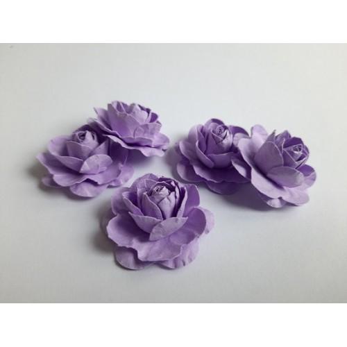 Цветы ручной работы Розы сиреневые 3,5 см фото