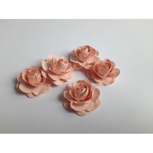 Цветы ручной работы Розы пудровые 3,5 см фото