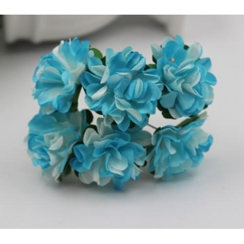 купить цветы бумажные Бело-голубые