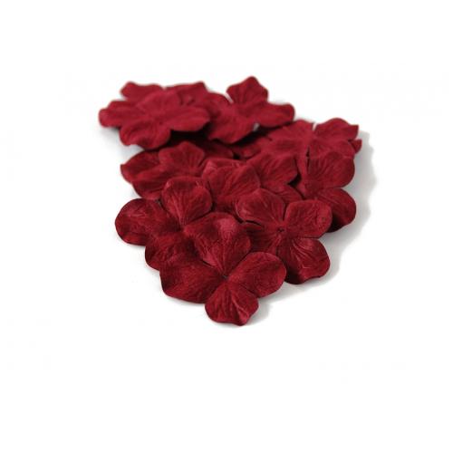 Цветок Гортензия бордовая 5 см фото
