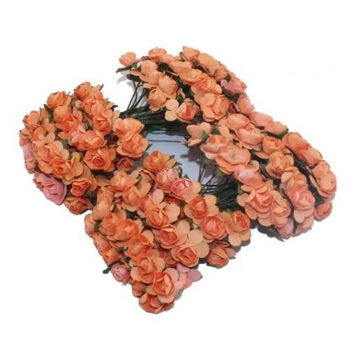 Розы бумажные Оранжевые фото