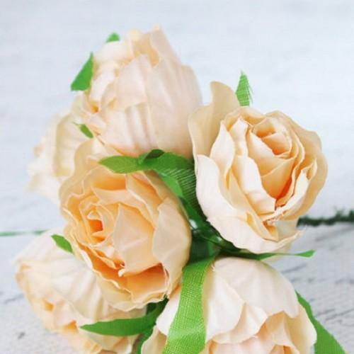 Декоративная роза Эустома Персиковая 5 см фото