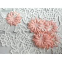 Цветок Маргаритка коралловый, 37 мм