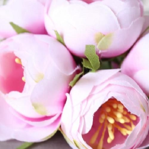 Цветок Пион на ножке Бледно-розовый 4 см фото
