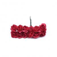 Розы бумажные Красные 1,5 см, 12 шт