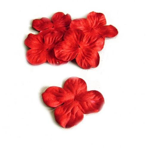 Цветок Гортензия красная 3 см фото