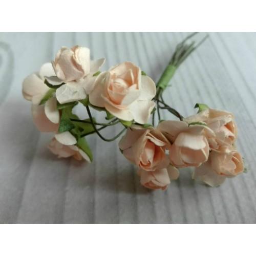 купить розы бумажные персиковые