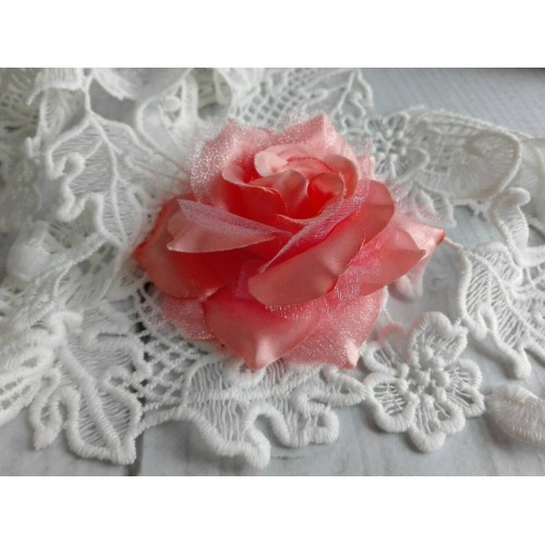 Декоративная Роза Коралловая 8 см фото