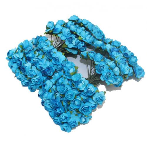 Розы бумажные Голубые фото