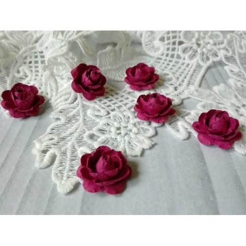 Цветы ручной работы. Роза. Бордовый. 6 шт