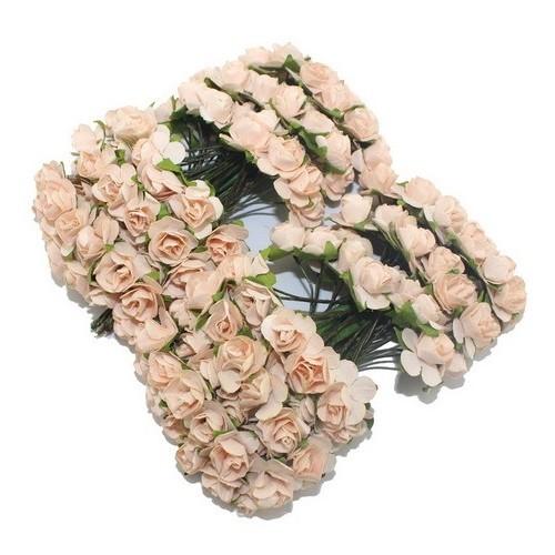 Розы бумажные Персиковые фото