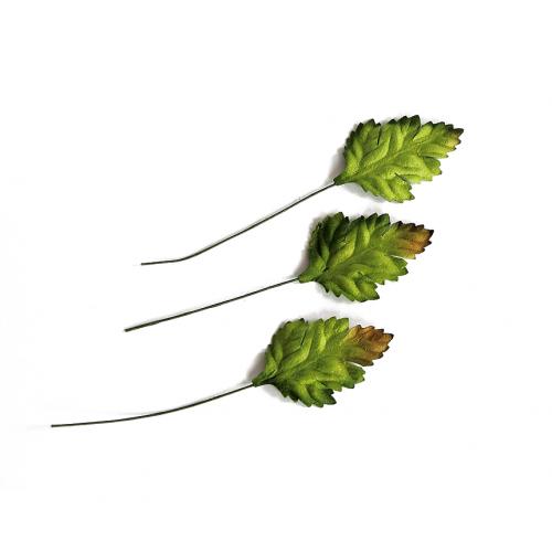 Листья маргаритки бумажные Зеленые 3,5*2,5 см фото