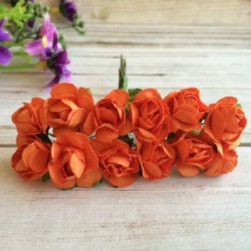 купить розы бумажные Оранжевые