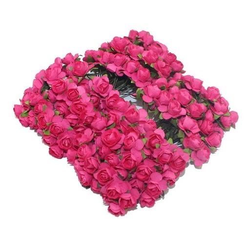 Розы бумажные Малиновые фото