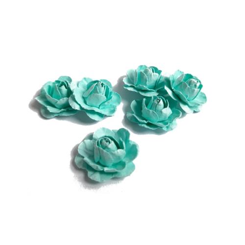 Цветы ручной работы Розы мятные 2,5 см, 6 шт