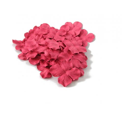 Цветок Гортензия Красная 5 см фото