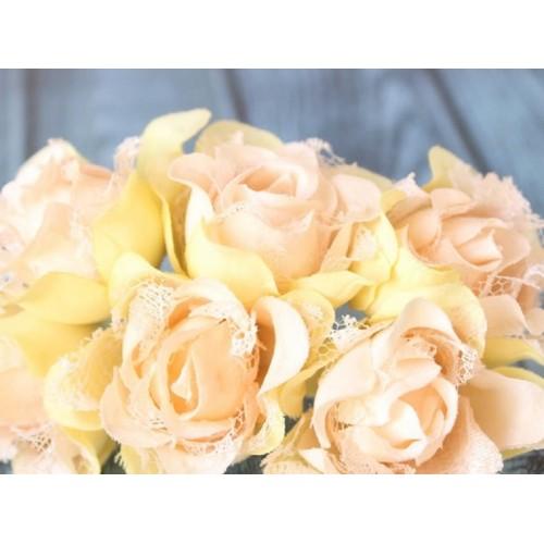 купить Розы гипюр Персиковые